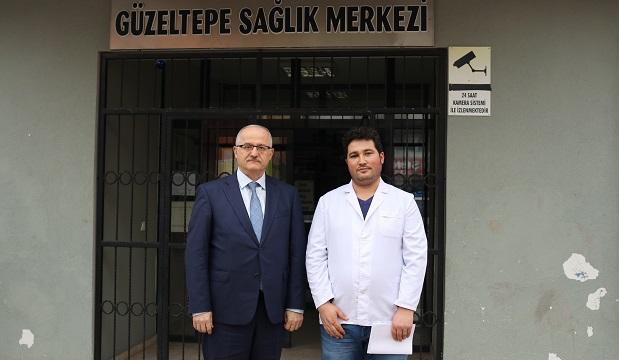 Güzeltepe'de görevli aile hekimi Uz.Dr.Bilal Kemik'e  destek ziyareti