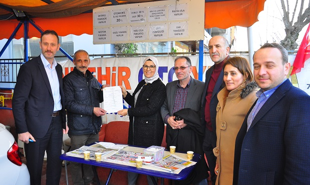 Milletvekili Katırcıoğlu'ndan, İzmit Yenişehir'de esnaf ziyareti