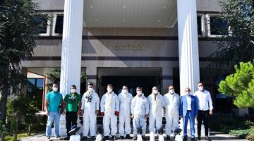 Yerleşkelerde dezenfekte ve temizlik çalışmaları sürüyor