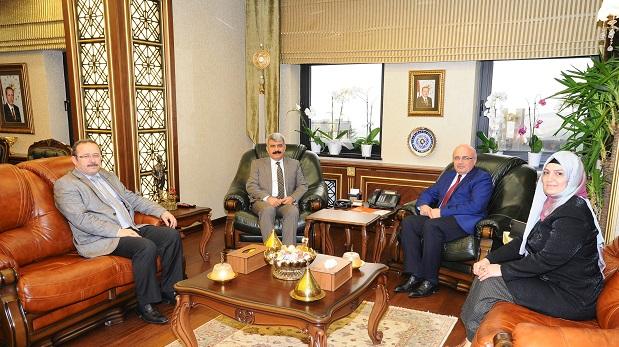 AFAD İl Müdürü Tekoğul,Rektör Hülagü'yü Ziyaret Etti