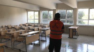 Okullarda ve sınıflarda detaylı dezenfekte