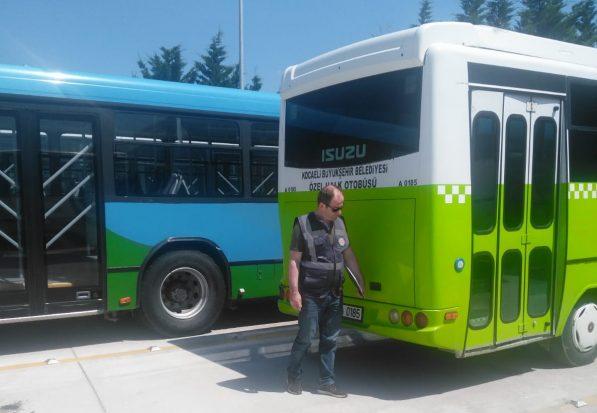 Özel halk otobüslerine cezai işlem