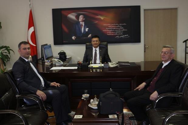 Dilovası Kaymakamı  Mustafa Asım Alkan'a Ziyaret.