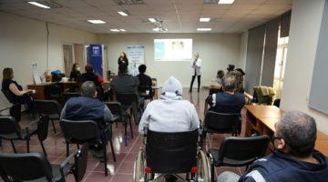 Engelli personele eğitim verildi