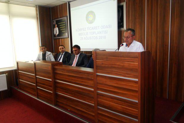 Körfez Ticaret Odası Ağustos Ayı Meclisi yapıldı