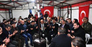 Fikri Işık,Şehit İlker Ağçay'ın ailesini ziyaret etti.