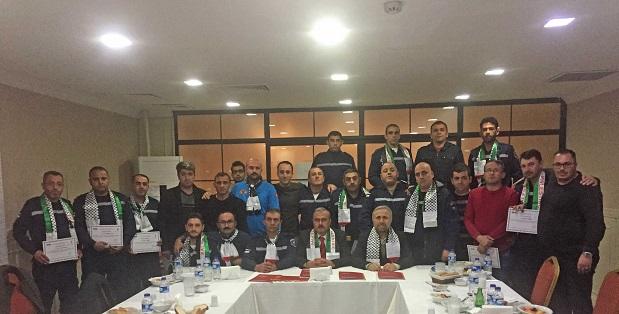 Filistinli İtfaiyeciler eğitimlerini tamamladı