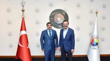 Necmi Bulut, TOBB Başkanı Hisarcıklıoğlu ile görüştü