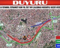 İstanbul istikametinde yol üst yapı çalışması