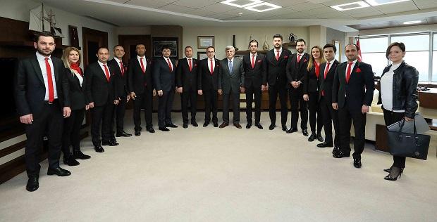 İnşaat Mühendisleri Odası'ndan Karaosmanoğlu'na Ziyaret