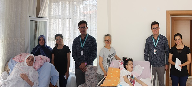 Evde bakım hastalarına evlerinde ziyaret