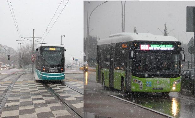 Otobüs ve tramvay kış tarifesine geçti