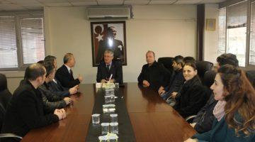 Kocaman ve Yönetimi Başkan Ellibeş'i Ziyaret Etti.