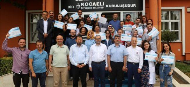 Çevre ve Kimya Mühendisi stajyerleri sertifikalarını aldılar