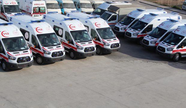 Kocaeli' ye 8 Adet Tam Donanımlı Ambulans