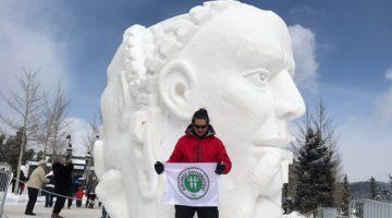 ABD'deki Kar Heykel Festivali'nde İstiklal Marşı Gururu