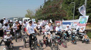 Özel çocukların özel bisiklet turnuvası