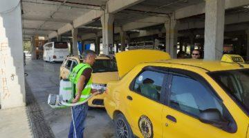 Yüzlerce Taksi Dezenfekte Edildi