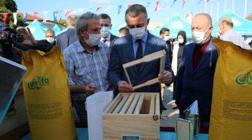 Çiftçiye arı kovanı ve arıcılık ekipmanı