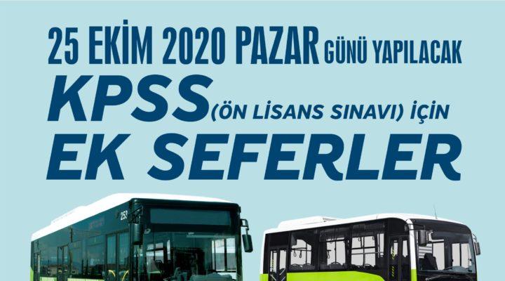 KPSS'ye girecek adaylar ulaşımda sorun yaşamayacak