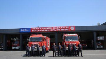 2 araç ve 8 personel Manavgat'ta