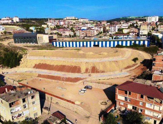 Çok amaçlı yeni parkın yapımı sürüyor