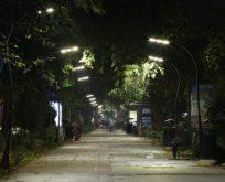 Yürüyüş yolu ışıl ışıl