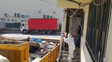 Yaklaşık 5 kamyon çöp çıkarıldı