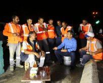 Karabacak'tan gece çalışan personele ziyaret