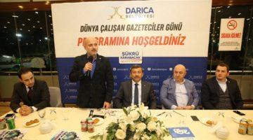 Karabacak,bölge gazetecilerini ağırladı.