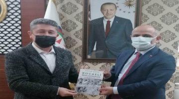 Tarihçi Şükür,Körfez Belediye başkanını bilgilendirdi