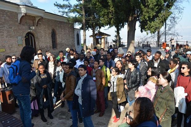 Uluslararası öğrenciler Bursa Gezisinde