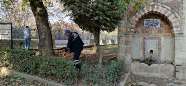 Hünkar Çayırı'nda temizlik ve ağaç bakımı