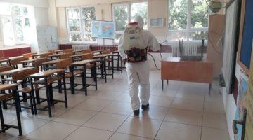 Okullarda dezenfekte çalışması başladı