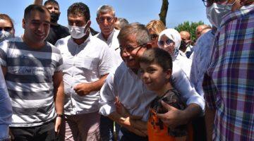 Davutoğlu,Gebze'de pikniğe katıldı