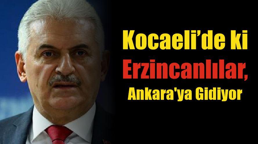 Kocaeli Erzincanlılar Derneği, Ankara'ya Gidiyor