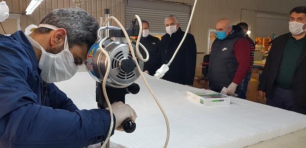 200 Personel Özveri ve Fedakârlıkla Maske Üretiyor