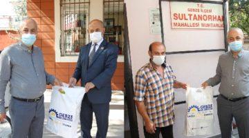Büyükgöz'den Muhtarlara maske ve dezenfektan
