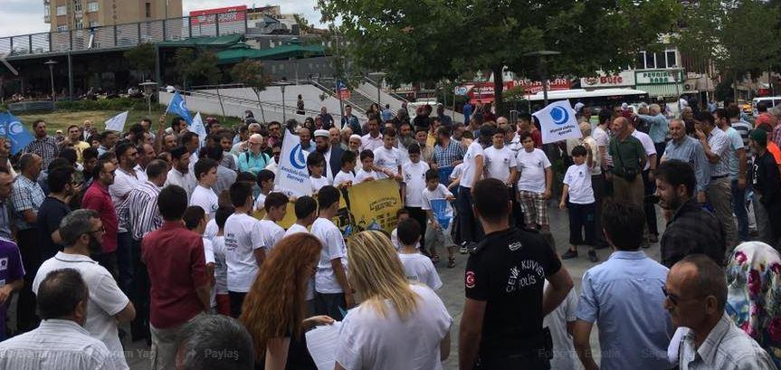 Gebze'de İsrail'i Protesto Ettiler!