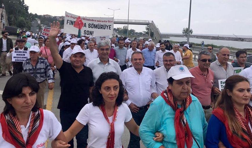 Tarhan'da Fındık İçin Adalet Yürüyüşünde