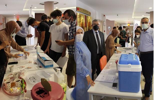 106 öğrencinin tamamına aşı yapıldı.