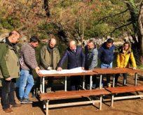 Ballıkayalar Tabiat Parkı'nda  yenileme çalışması