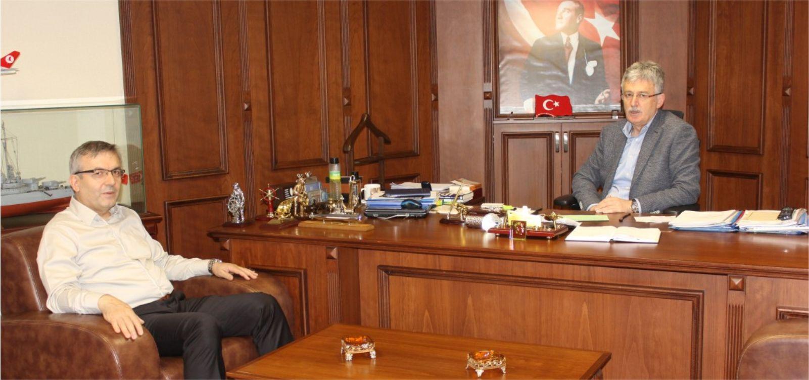 Başhekim Pehlevan'dan Başkan Ellibeş'e Ziyaret
