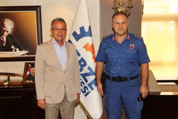 Jandarma Komutanı Köşker'in konuğu