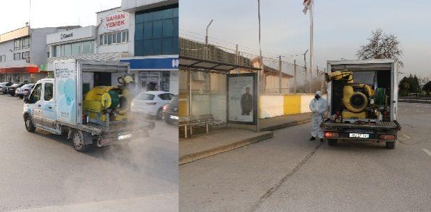 Büyükşehir'den dezenfekte uygulama çalışması