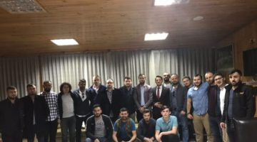 Dinç'e Trabzonlu Gençlerden destek