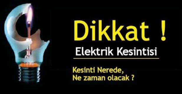 Dikkat Elektrikler Kesilecek! Çayırova ve Gebze…