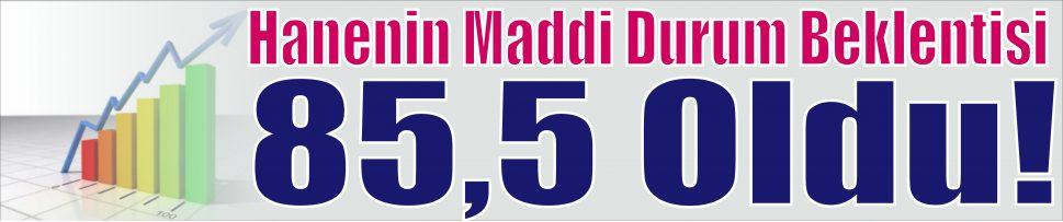 Hanenin Maddi Durum Beklentisi  85,5!