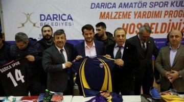 Darıca'daki amatör spor kulüplerine malzeme desteği