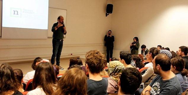GTÜ'de Sinan Canan ile söyleşi etkinliği